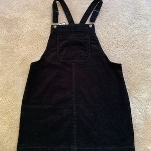 Black corduroy overall dress, NWT size L